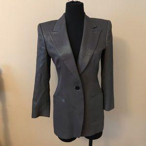 Giorgio Armani black & silver jacket Italy size38